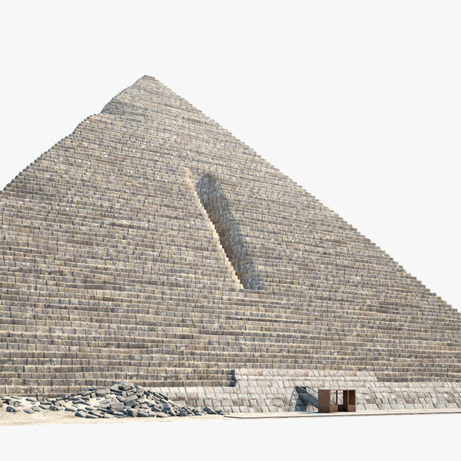 Menkaure-pyramiden royalty-free 3d model - Preview no. 2