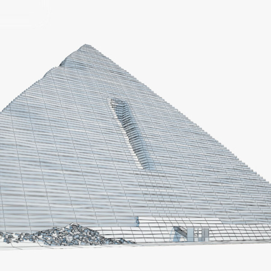 Menkaure-pyramiden royalty-free 3d model - Preview no. 3