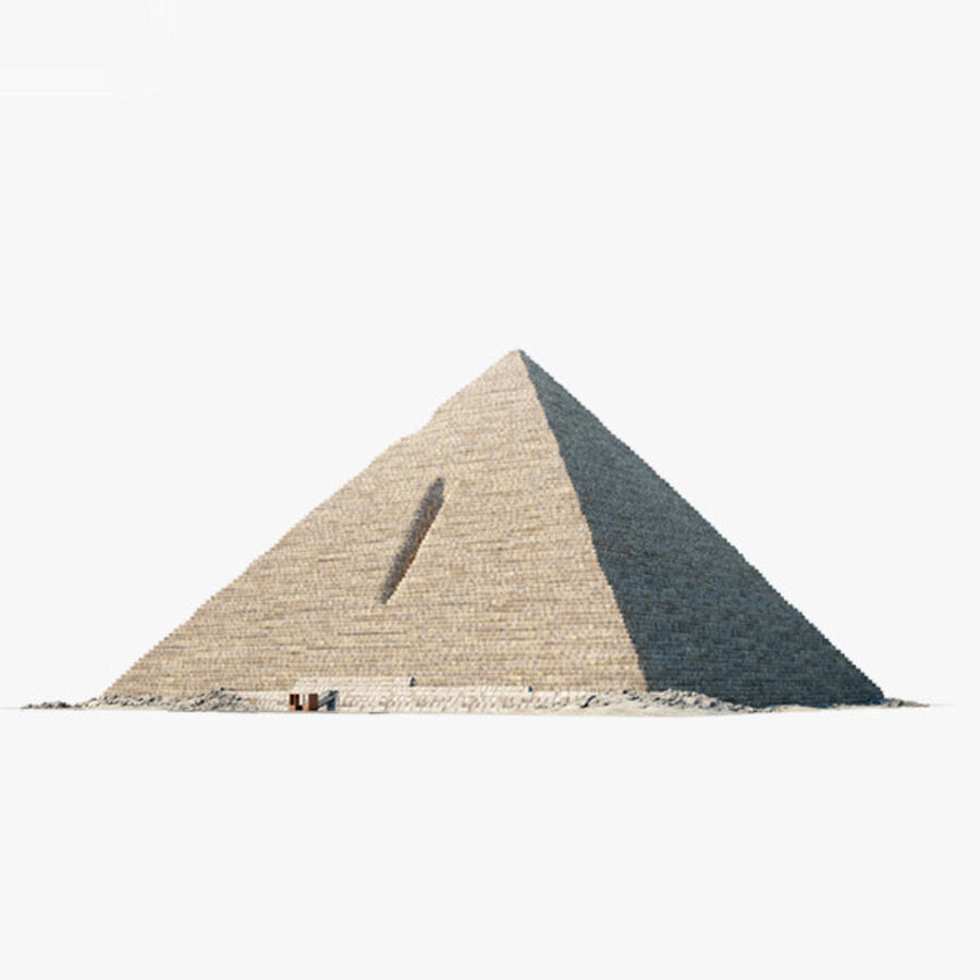 Menkaure-pyramiden royalty-free 3d model - Preview no. 1