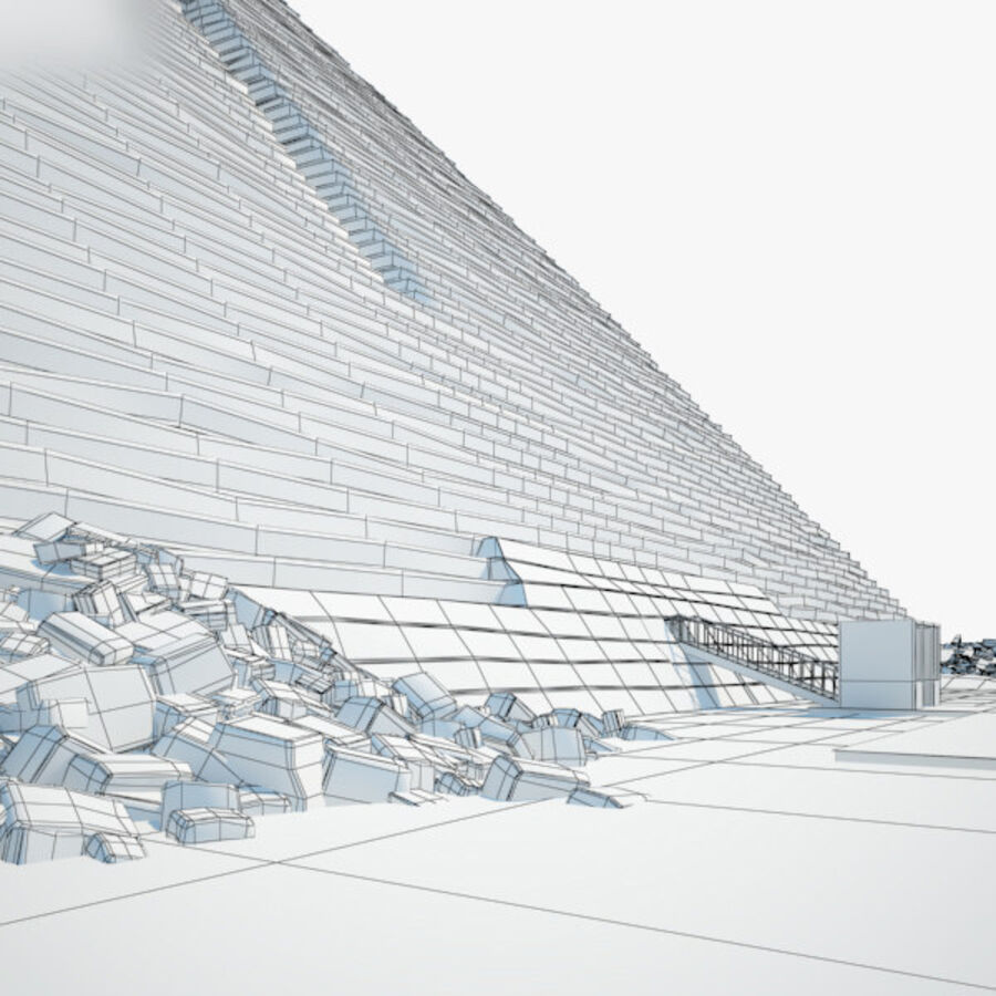 Menkaure-pyramiden royalty-free 3d model - Preview no. 5