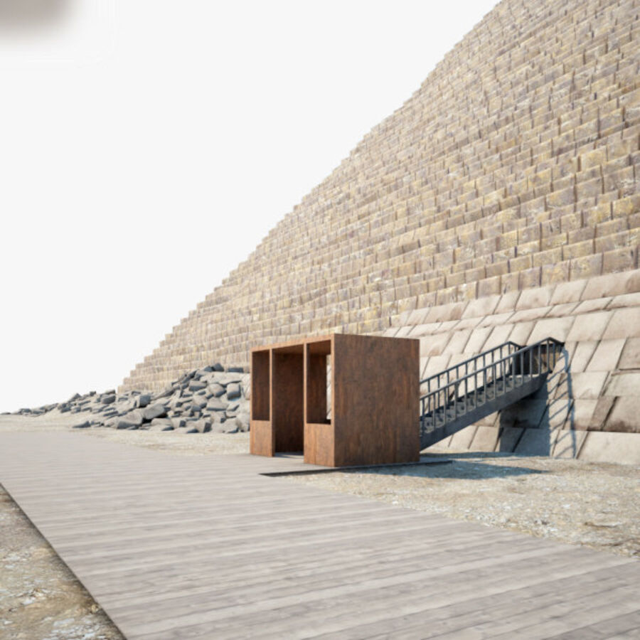 Menkaure-pyramiden royalty-free 3d model - Preview no. 6
