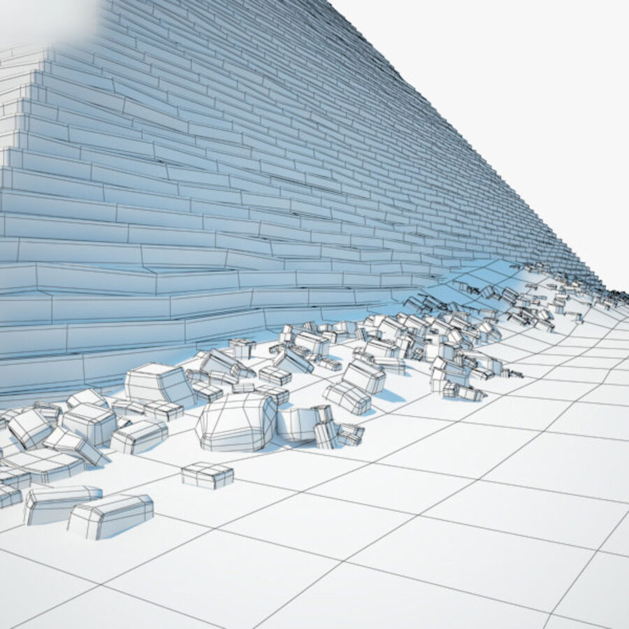 Пирамида Менкаура royalty-free 3d model - Preview no. 11