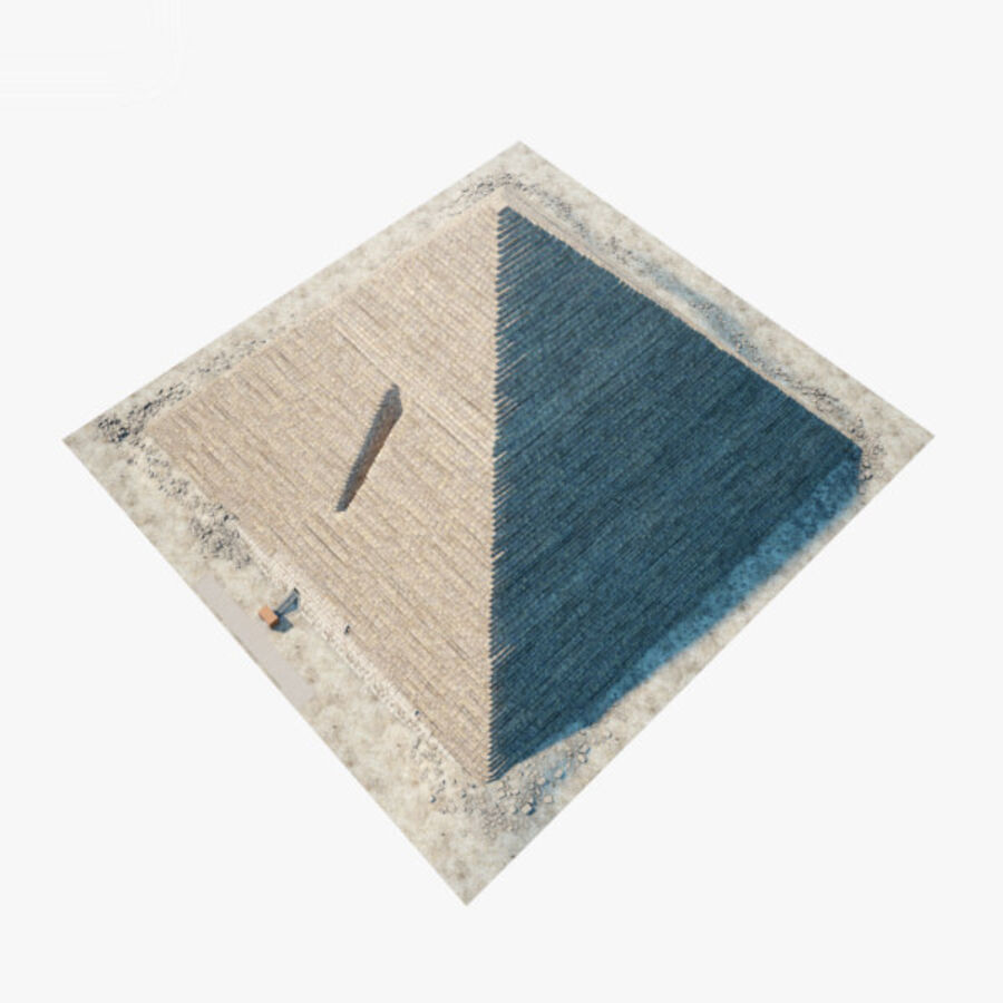 Menkaure-pyramiden royalty-free 3d model - Preview no. 18