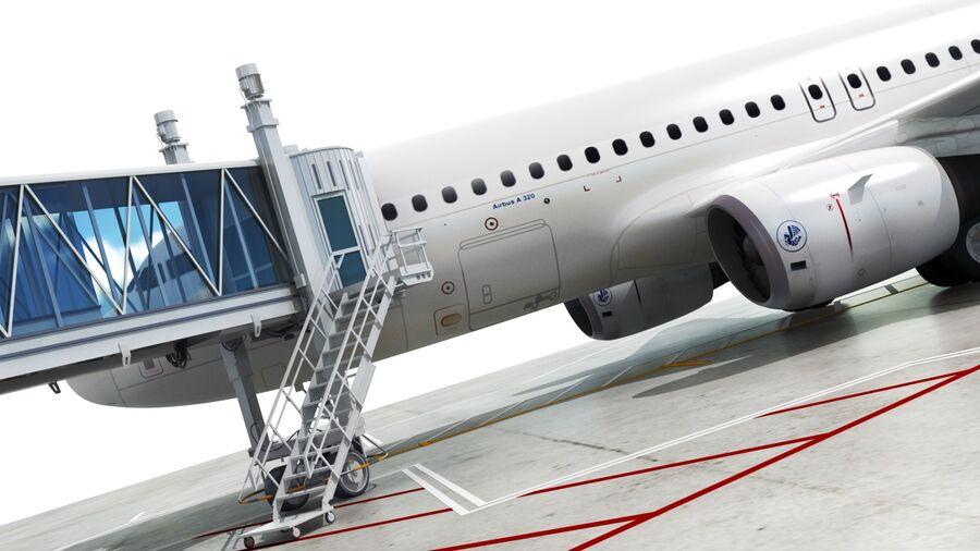 Avión y Jetway del aeropuerto royalty-free modelo 3d - Preview no. 4