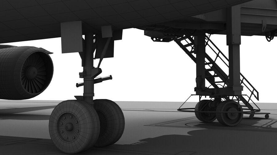 Avión y Jetway del aeropuerto royalty-free modelo 3d - Preview no. 24