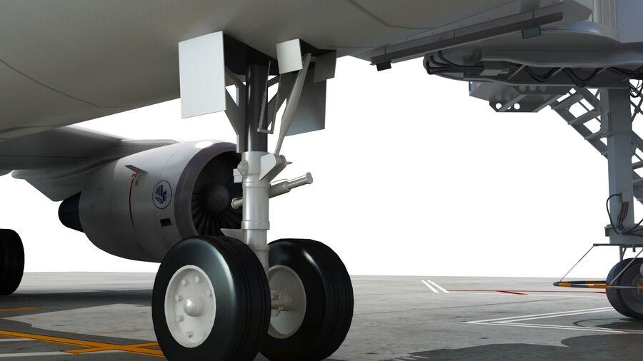 Avión y Jetway del aeropuerto royalty-free modelo 3d - Preview no. 11