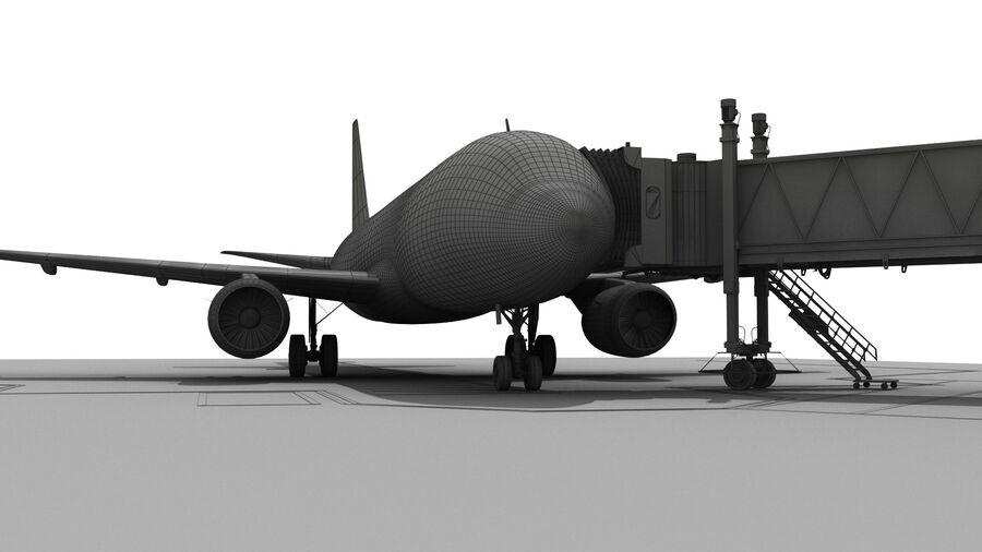 Avión y Jetway del aeropuerto royalty-free modelo 3d - Preview no. 20