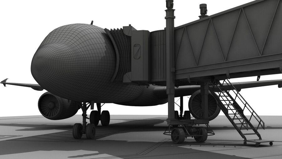 Avión y Jetway del aeropuerto royalty-free modelo 3d - Preview no. 22