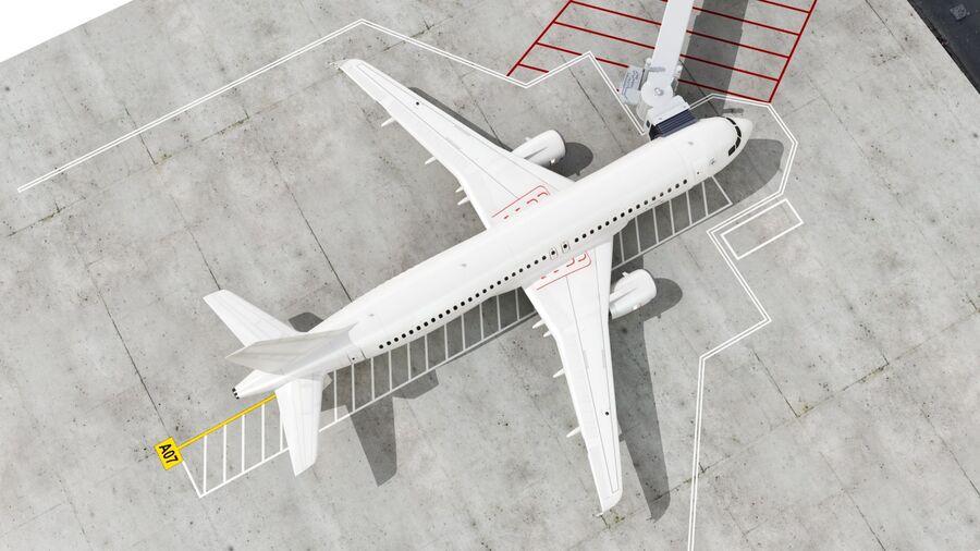 Avión y Jetway del aeropuerto royalty-free modelo 3d - Preview no. 12