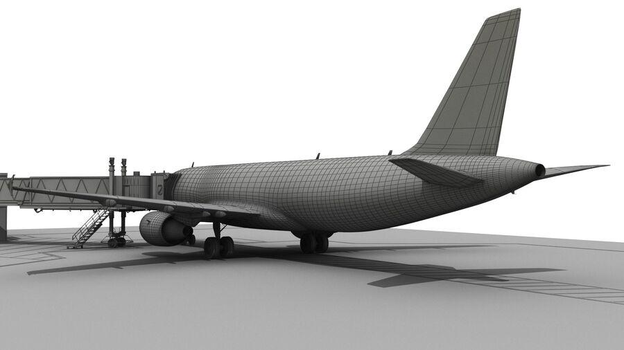 Avión y Jetway del aeropuerto royalty-free modelo 3d - Preview no. 23