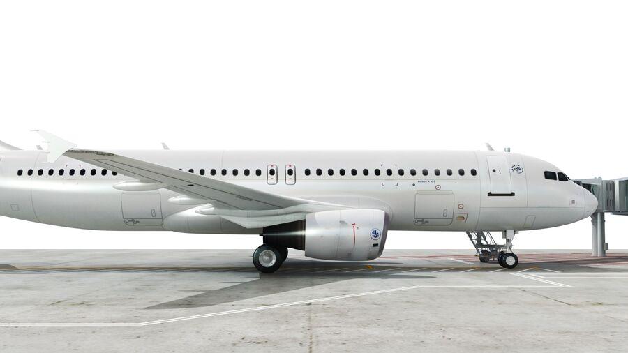 Avión y Jetway del aeropuerto royalty-free modelo 3d - Preview no. 15