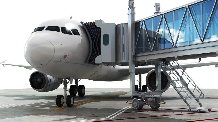 Avión y Jetway del aeropuerto royalty-free modelo 3d - Preview no. 5