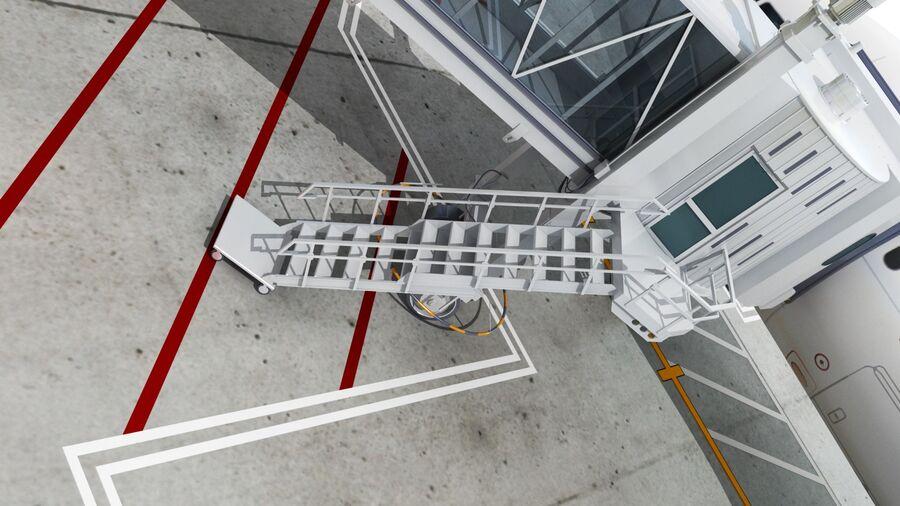 Avión y Jetway del aeropuerto royalty-free modelo 3d - Preview no. 7