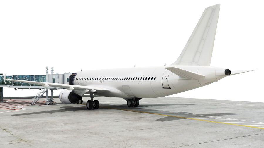 Avión y Jetway del aeropuerto royalty-free modelo 3d - Preview no. 9