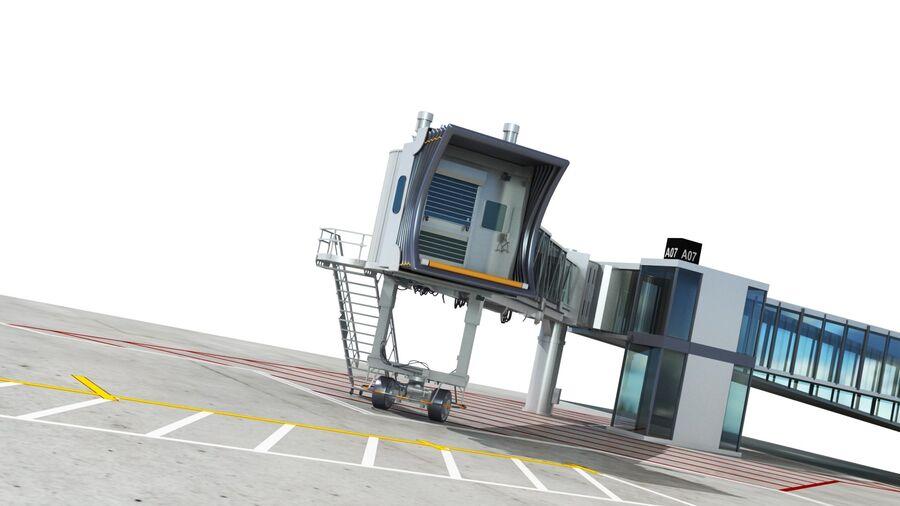 Avión y Jetway del aeropuerto royalty-free modelo 3d - Preview no. 17