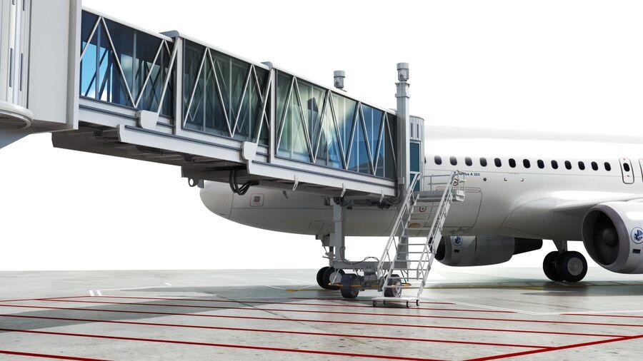 Avión y Jetway del aeropuerto royalty-free modelo 3d - Preview no. 14
