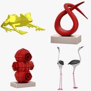 Скульптурный набор 01 (15 товаров) 3d model