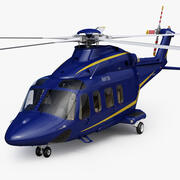 AgustaWestland AW139 Bleu Foncé 3d model