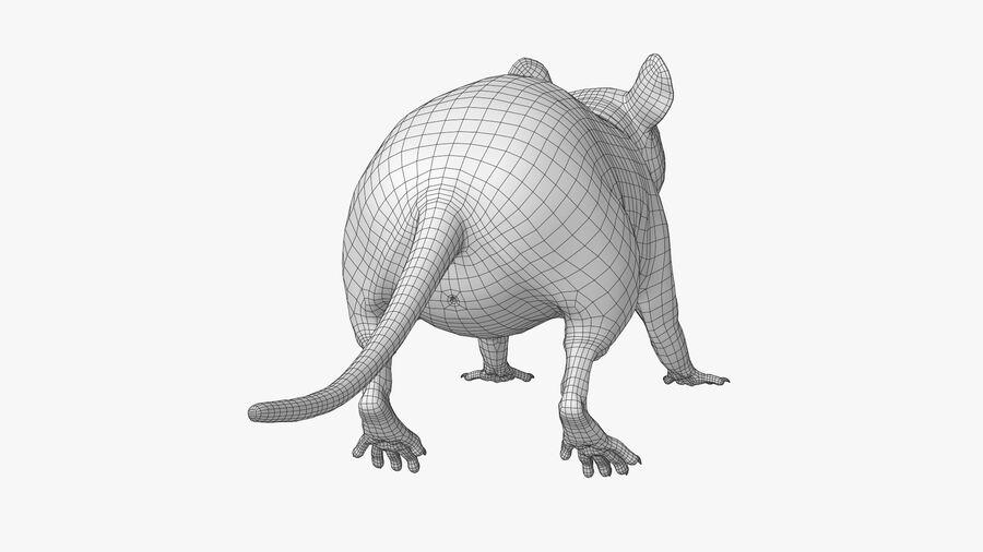Rat sans poils royalty-free 3d model - Preview no. 21