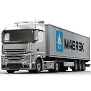 Camion porte-conteneurs (1) 3d model