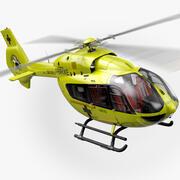 Helikopter ratunkowy Airbus H145 (pełne wnętrze) 3d model