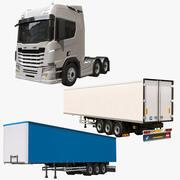 Collection de camions générique 3d model