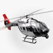 Airbus H145 Police Helicopter (Full interior) 3d model