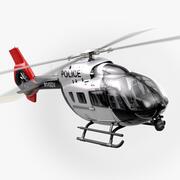 Helikopter policyjny Airbus H145 (pełne wnętrze) 3d model