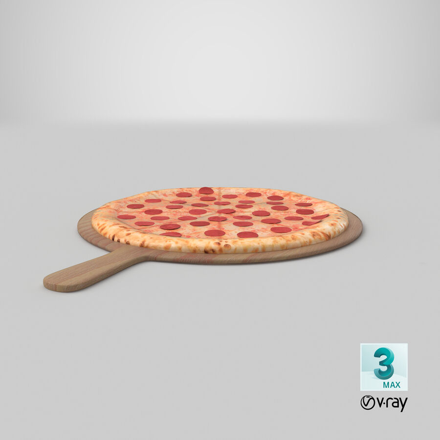 Pizza 3D Model royalty-free 3d model - Preview no. 16