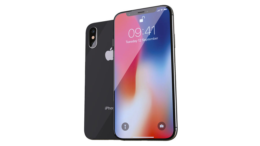 iPhone XおよびiPhone X royalty-free 3d model - Preview no. 3