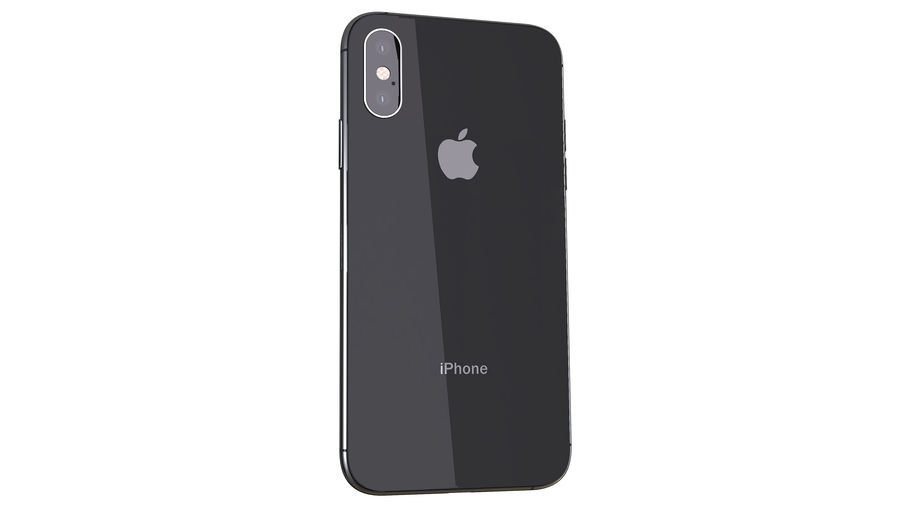 iPhone XおよびiPhone X royalty-free 3d model - Preview no. 4