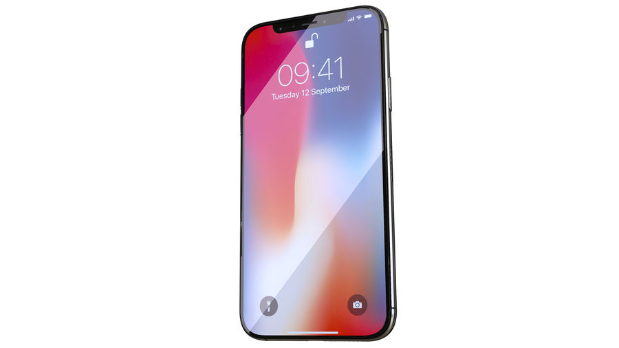 iPhone XおよびiPhone X royalty-free 3d model - Preview no. 20