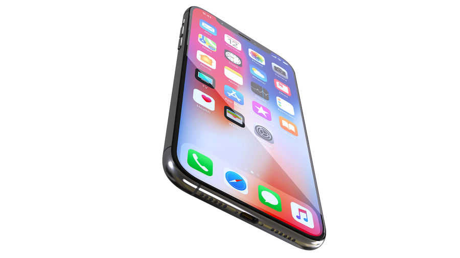 iPhone XおよびiPhone X royalty-free 3d model - Preview no. 14