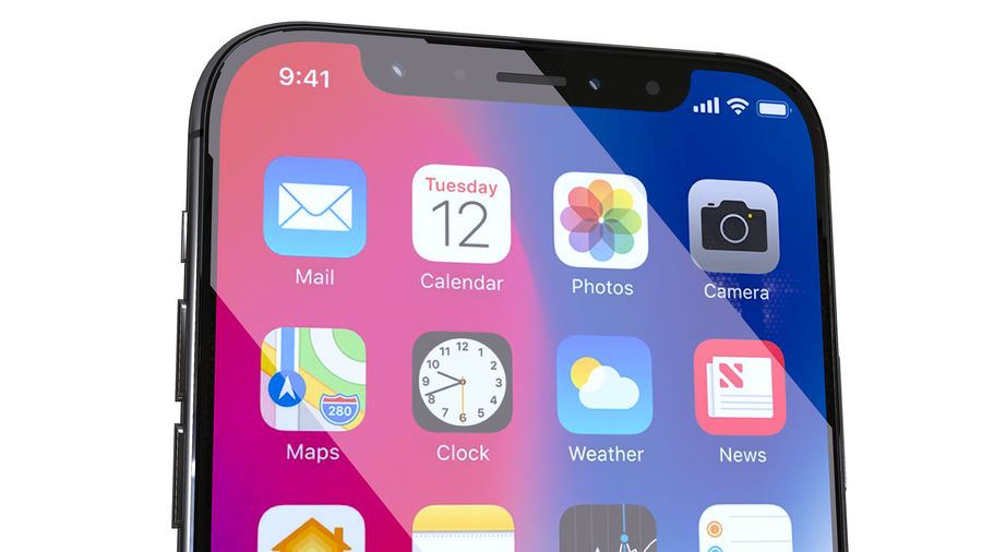 iPhone XおよびiPhone X royalty-free 3d model - Preview no. 9