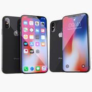 iPhone X och iPhone Xs 3d model