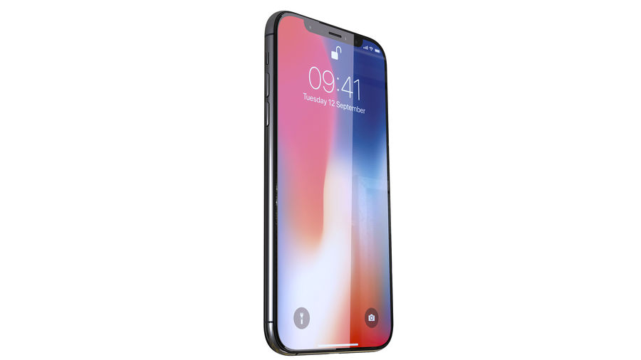 iPhone XおよびiPhone X royalty-free 3d model - Preview no. 30