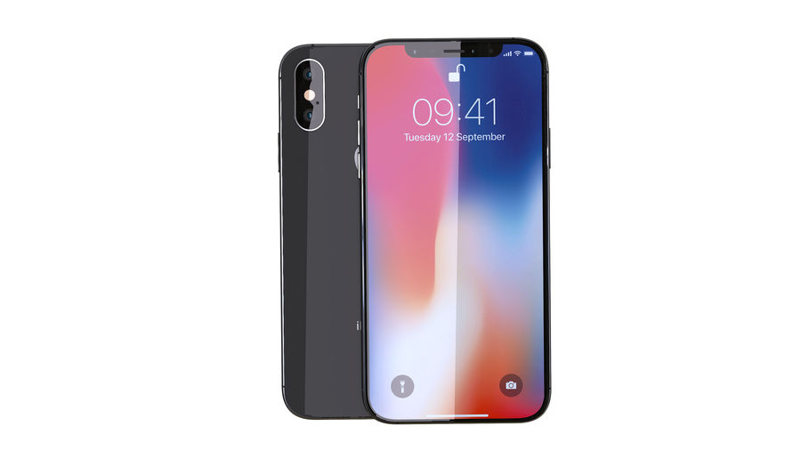 iPhone XおよびiPhone X royalty-free 3d model - Preview no. 26