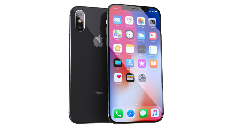 iPhone XおよびiPhone X royalty-free 3d model - Preview no. 2