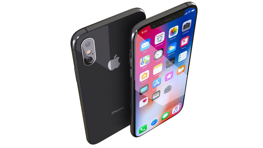 iPhone XおよびiPhone X royalty-free 3d model - Preview no. 6