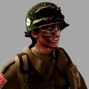 Вторая мировая война США десантник 3d model