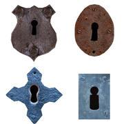 古い鍵穴コレクション 3d model