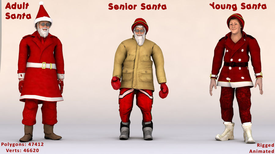 Noel Baba royalty-free 3d model - Preview no. 8