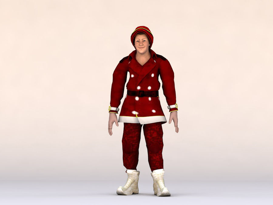 Noel Baba royalty-free 3d model - Preview no. 3