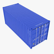 20ft container 3d model