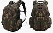 バックパックキャンプ汎用軍用戦闘兵士アーマーフィクション6 3d model