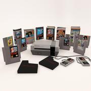 Nintendo Eğlence Sistemi Artı Oyunları 3d model