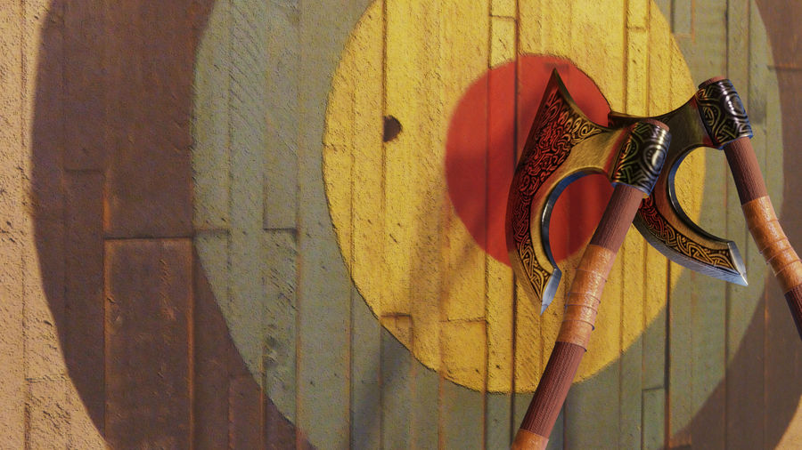 Medieval Weapon Axe royalty-free 3d model - Preview no. 5