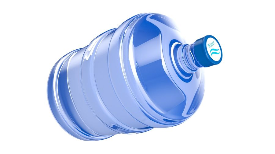 Water Bottle Container royalty-free 3d model - Preview no. 5
