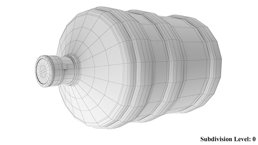 Water Bottle Container royalty-free 3d model - Preview no. 8