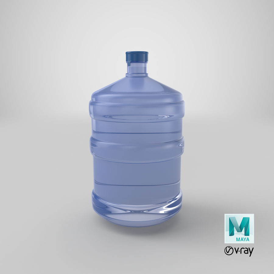 Water Bottle Container royalty-free 3d model - Preview no. 21